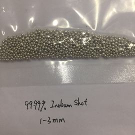 China 5N 99.999% Indium Pellets Indium Shots Size 1-3mm CAS 7440-74-6 Silvery White Color distributor